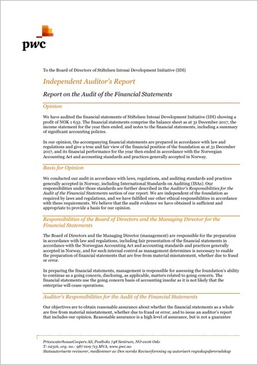 Audit Report 2017 Cover