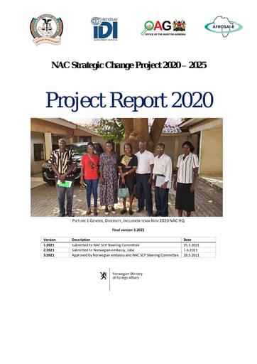 South Sudan NAC SCP Project Report 2020