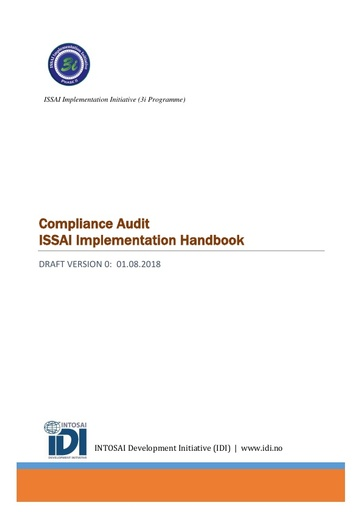 Compliance Audit ISSAI Implementation Handbook-Version 0 (English)