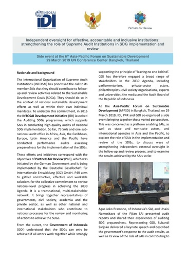 APFSD side event on SAI role in SDG implementation