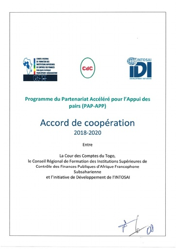 Signed Cooperation Agreement Togo