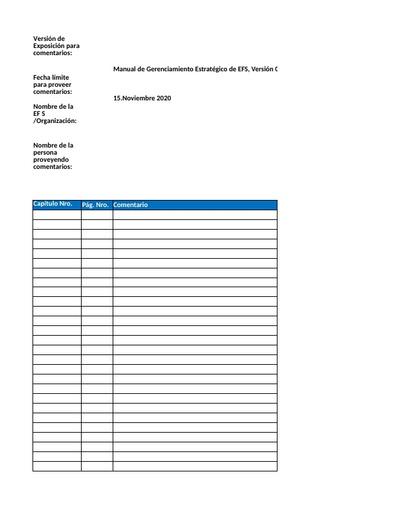 SPMR disposition table - Spanish