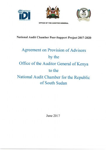 Agreement with Office of the Auditor General of Kenya to the National Audit Chamber for the Republic of South Sudan and IDI