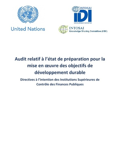 Auditing Preparedness for Implementation of SDGs – A guidance for Supreme Audit Institutions -Version 0 (French)