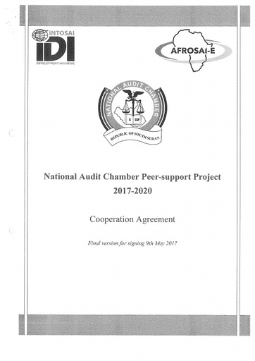 NAC IDI AFROSAI E Cooperation agreement 2017-2020