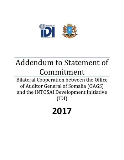 Agreement 2017 Addendum to Statement of Commitment Somalia