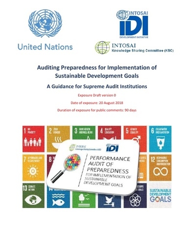 Auditing Preparedness for Implementation of SDGs – A guidance for Supreme Audit Institutions -Version 0 (English)