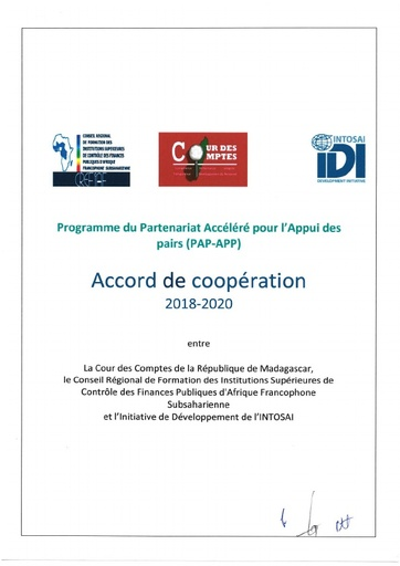 Signed Cooperation Agreement Madagascar