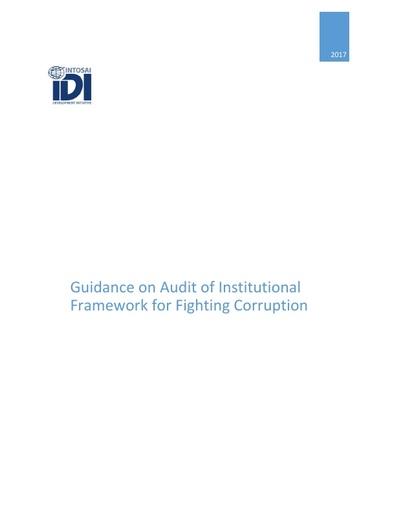 Guidance on Audit of Institutional Framework for Fighting Corruption