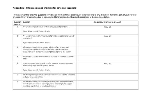 PESA Online Assessment Tender -Appendix 3 - PDF