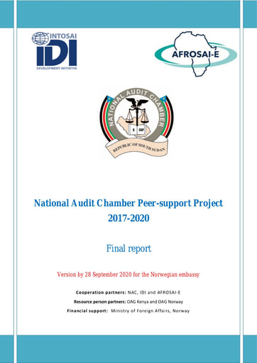 South Sudan NAC Peer support project Final Report, 2017-2020