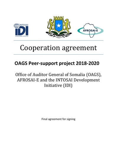 OAGS Peer-support project 2018-2020