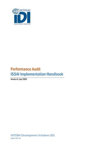 Performance Audit ISSAI Implementation Handbook-Version 0 (English)
