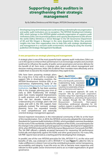Supporting public auditors in strengthening their strategic management (ECA Journal 1 2021)
