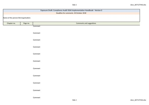 Template disposition of comments for CA ISSAI Implementation Handbook EN-Version 0