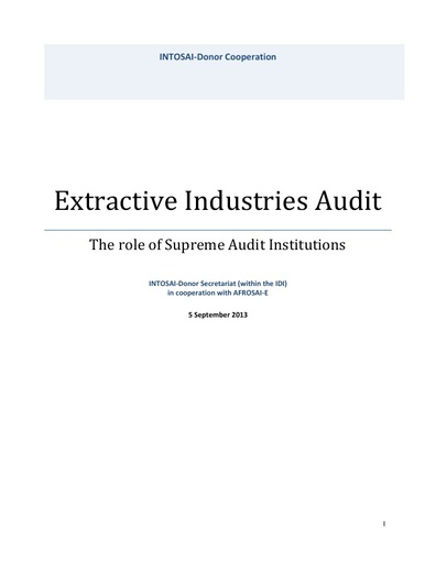 Audit of Extractive Industries