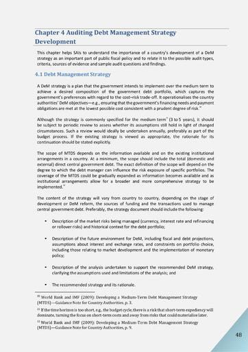 Audit of Public Debt Management: Handbook for SAIs v1 - Chapter 4