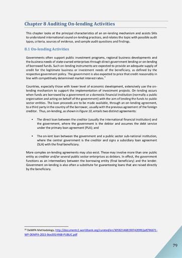 Audit of Public Debt Management: Handbook for SAIs v1 - Chapter 8